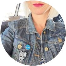 Nick Rhodes badge on Kate Beavis vintage blog