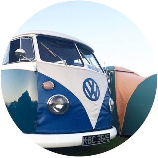 1969 split screen camper van on Kate Beavis home blog