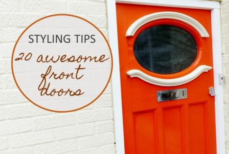 Styling Tip, 20 awesome front doors on Kate Beavis.com