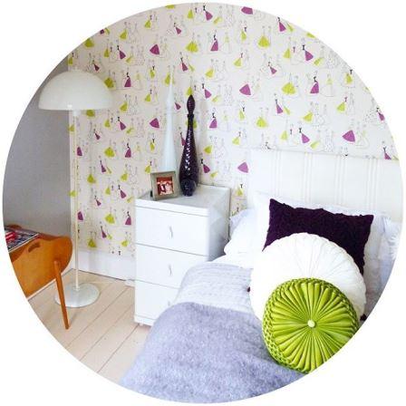 Vintage Bedroom on Kate Beavis Vintage Home blog
