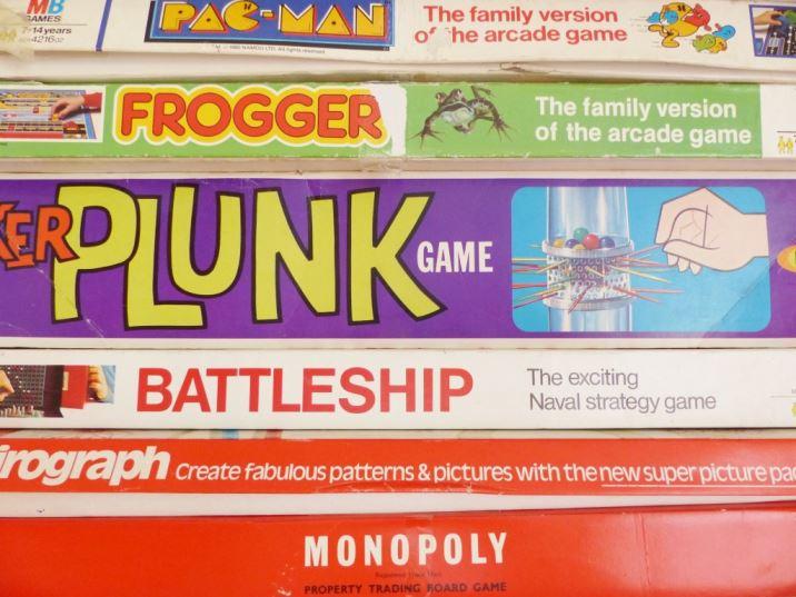 A vintage children's room by Kate Beavis.com, vintage board games