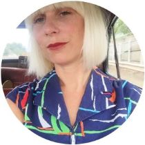 1960s nautical vintage dress on Kate Beavis blog