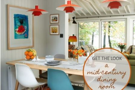 Get The Look: A mid century dining room by Kate Beavis.com