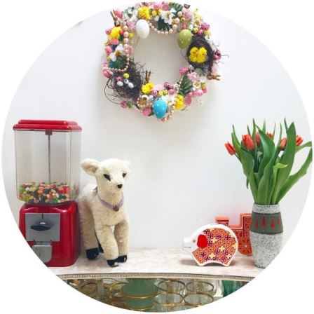Better late than never the Easter wreath is up! easterhellip