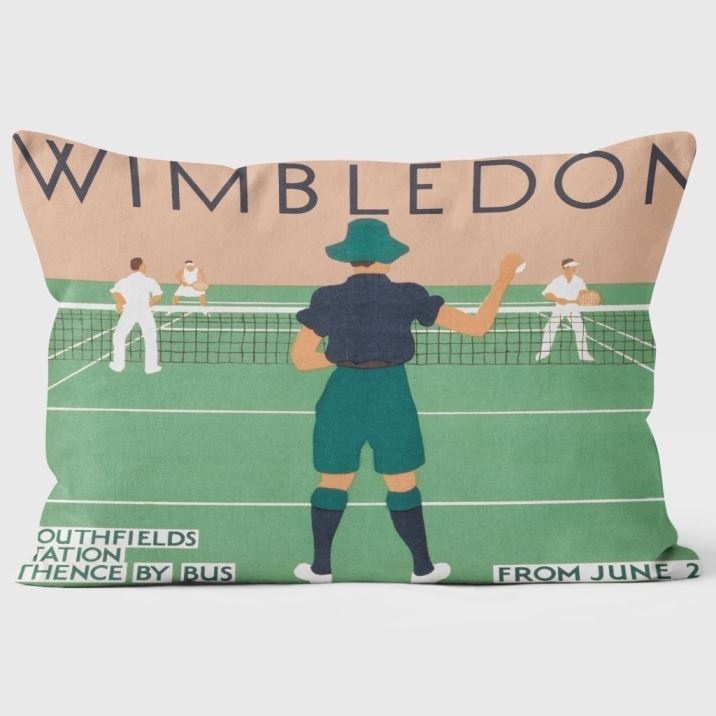 Wimbledon cushion - gifts for Fathers Day