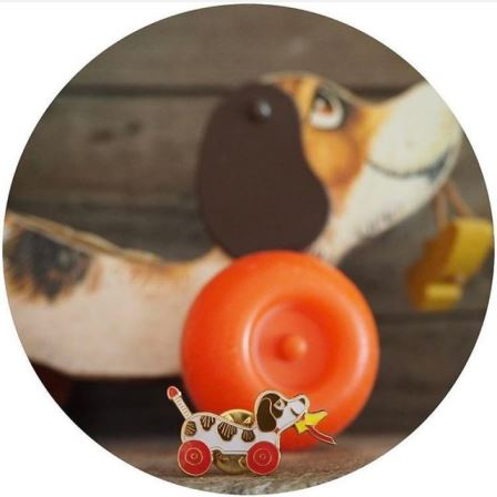 Dont forget our little vintage dog pin  not thathellip