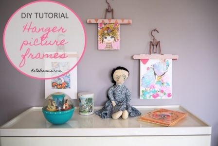 How to create picture frames from vintage trouser hangers