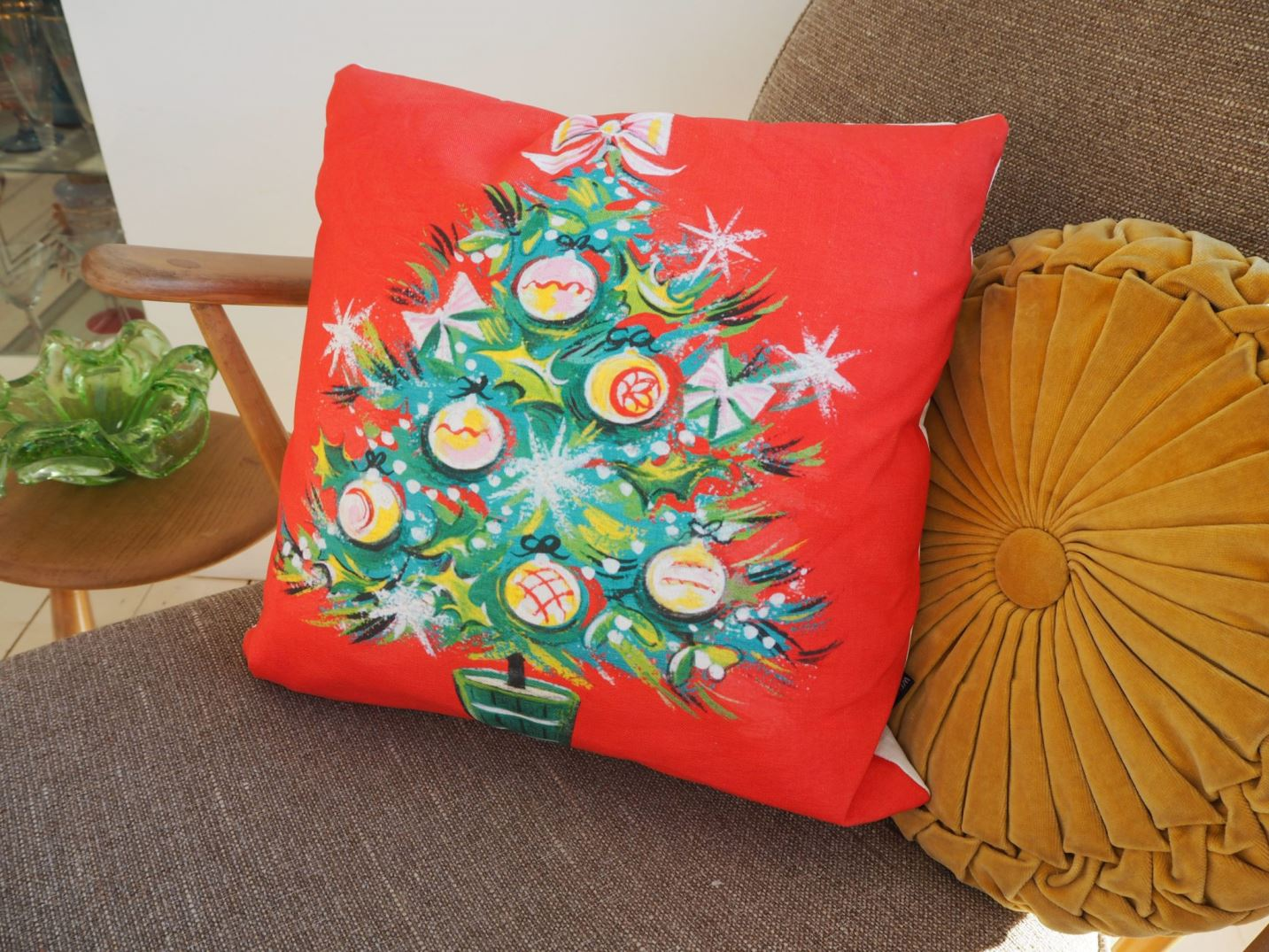 Vintage style Christmas cushions