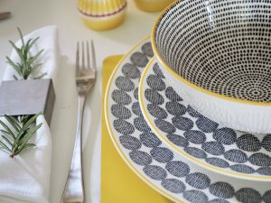 Scandi Helsinki Yellow Grey Homewares by Sainsburys