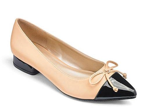 patent ballet pump by Simply Be