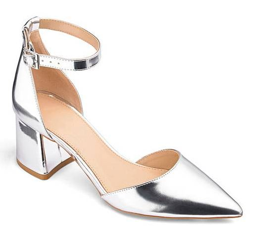 Silver shoes by Simply Be