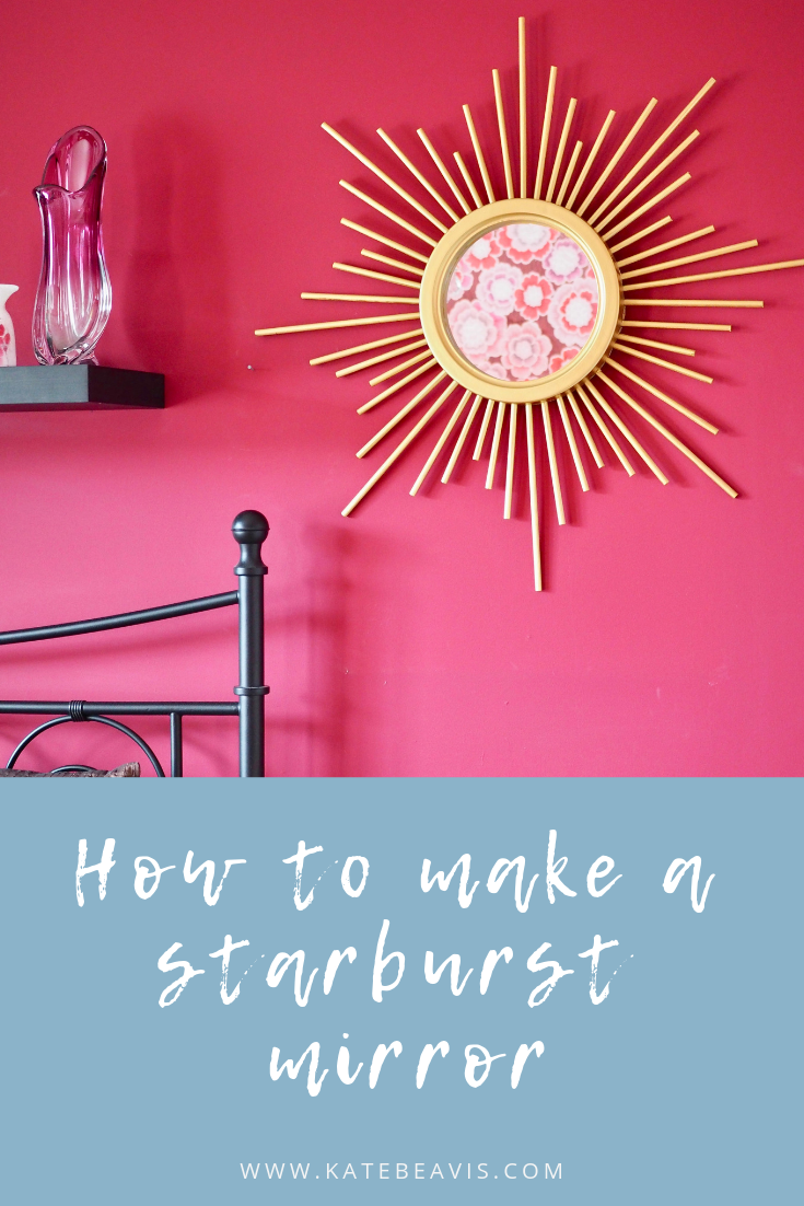 How to make a vintage style gold starburst mirror