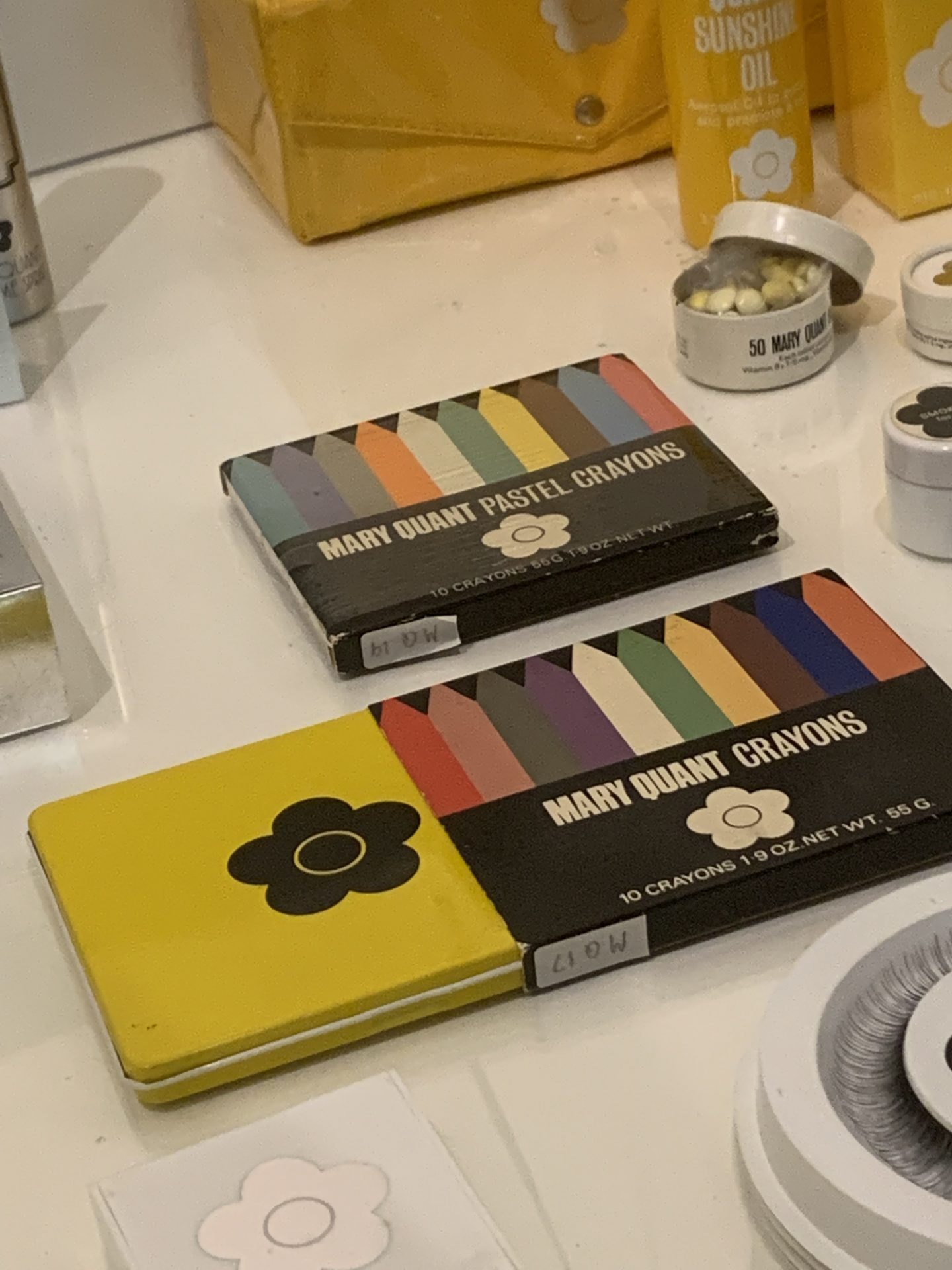 Mary Quant 1960s vintage fashion at the V&A Makeup