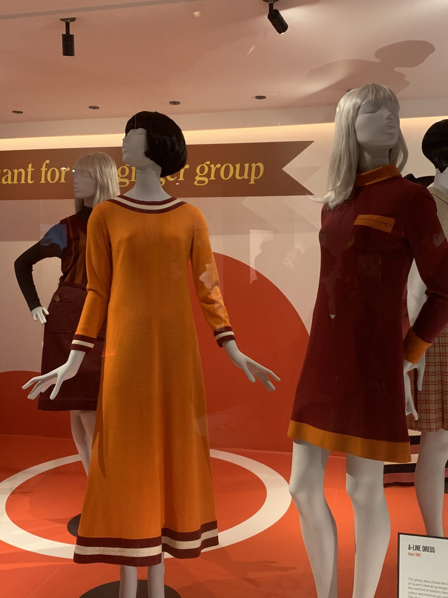 Mary Quant 1960s vintage fashion at the V&A